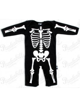 Long Sleeve Skeleton Onesie