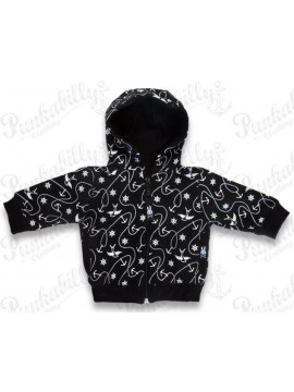 Black and White Nautical Baby Jacket