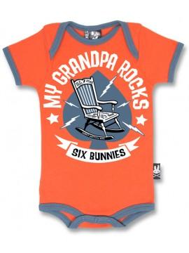 Grandpa Rocks Rockabilly Onesie
