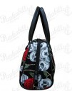 Black Roses and Skulls Handbag