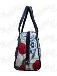 Cream Roses and Skulls Handbag