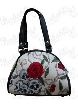 Roses and Skulls Mini Handbag