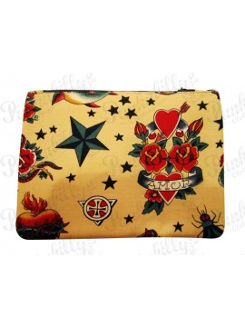 Amor Tattoo Inspired Vintage Pouch