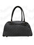 Black Polka Dot Bowling Bag