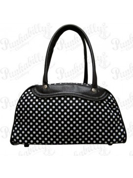 Black Polka Dot Bowling Bag