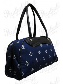 Blue Nautical Anchor Bowling Bag