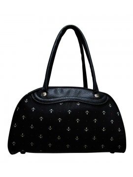 Black Nautical Anchor Bowling Bag