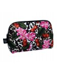 Leopard Print Cherries Cosmetic Bag