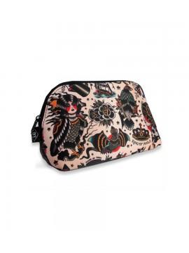 Pink Tattoos Cosmetic Bag