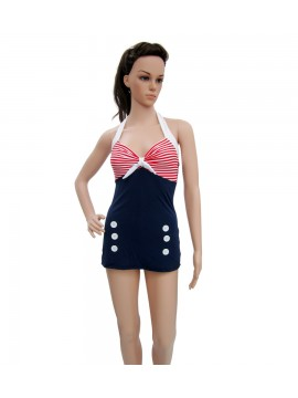 Nautical Vintage One Piece Swimsuit