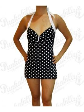 Black and White Polka Dot One Piece