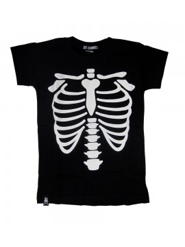 Black and White Ribcage T-Shirt