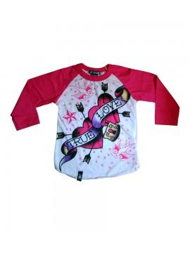 Long Sleeve True Love Shirt in Pink