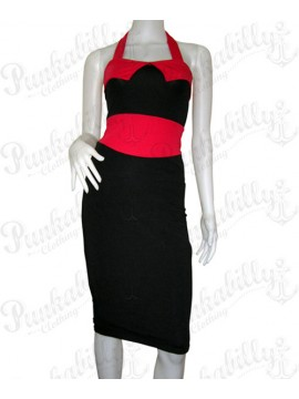 Black and Red Pin Up Dress