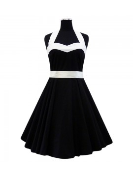 Black and White Rockabilly Heart Dress