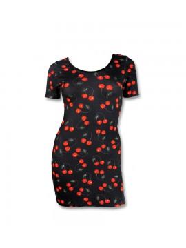 Black Cherry Mini-Dress