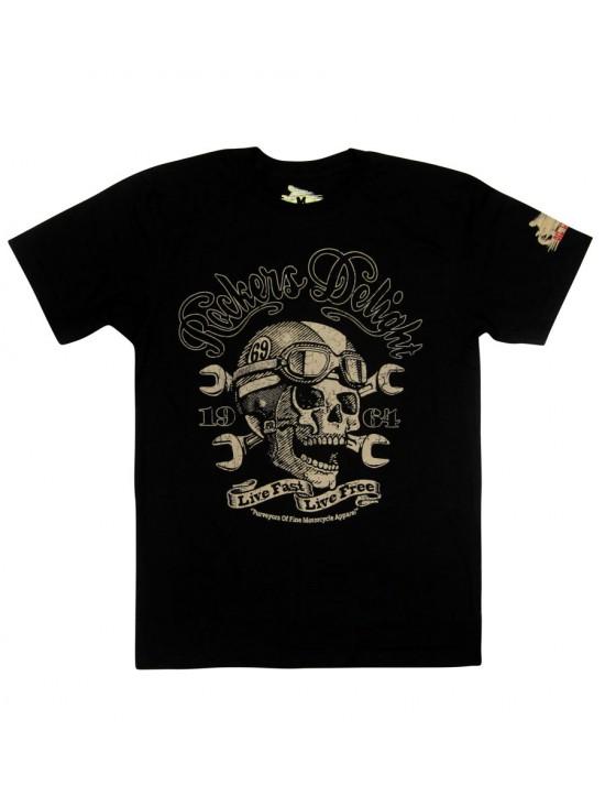 Live Fast Live Free Skeleton T-Shirt