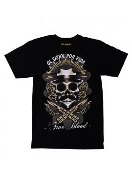 Por Vida Men's Skull T-Shirt