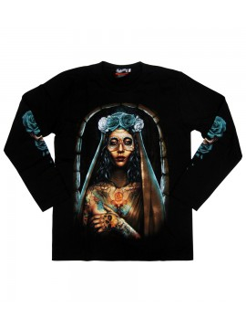 Gothic Senorita Long Sleeve Shirt