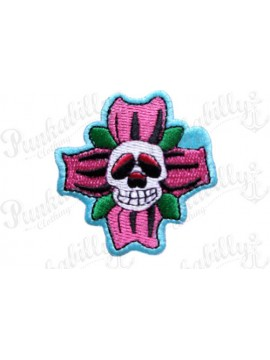 Scaredy Flower Punk Patch