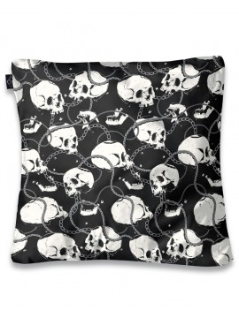 Links and Chains Skull Pillow Cover