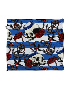 Skulls and Roses Pillow Cover