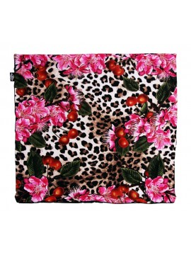 Leopard Cherry Pillow Cover