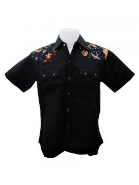 Tattoo Shoulders Work Shirt