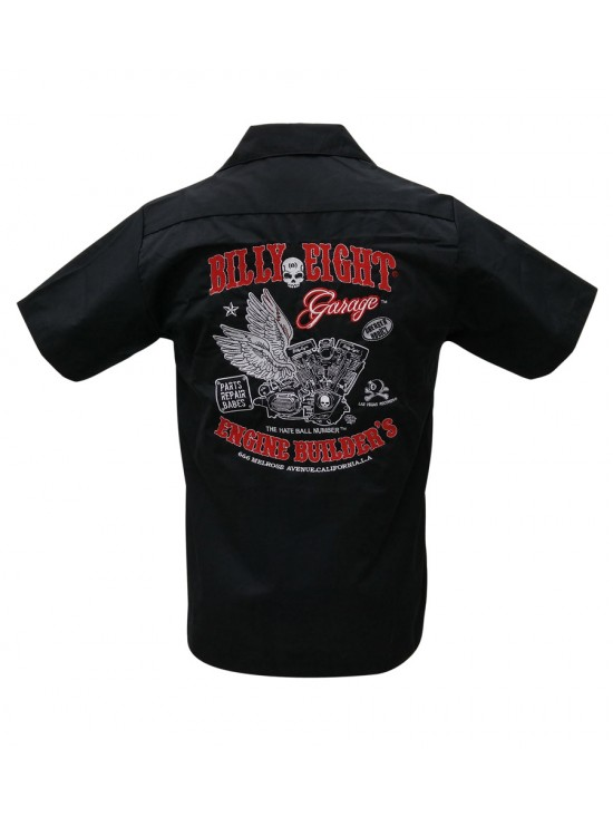 Greaser Addict Embroidered Work Shirt
