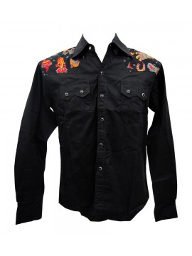 Famous Tattoos Long Sleeve Work Shirt
