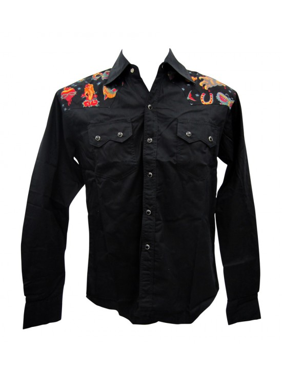 Famous Tattoos Long Sleeve Work Shirt