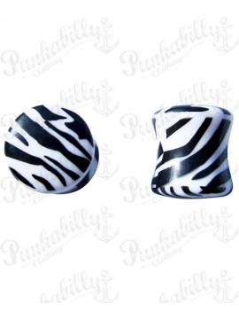 Acrylic print plug zebra design