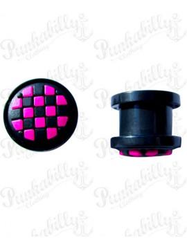Pink & White Checker Rockabilly Plug
