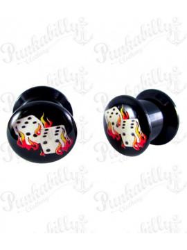 Acrylic Box Plug Flame Dice