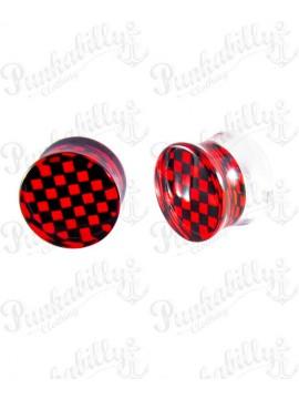 Black & Red acrylic plug checker