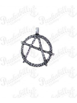 Anarchy Cutout Pewter Pendant