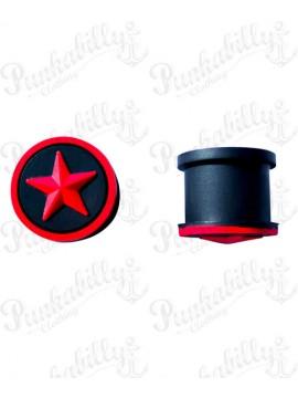 Red Star Design Silicone Plug