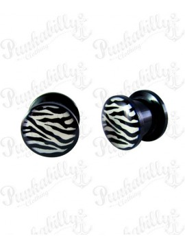 Black & White Zebra Plug